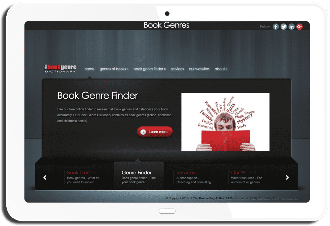 Book Genres Website - Mark Malatesta